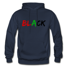Load image into Gallery viewer, Black Men's Premium Hoodie - navy