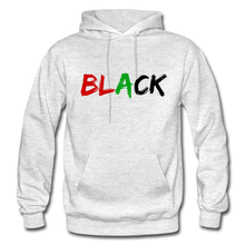 Load image into Gallery viewer, Black Men's Premium Hoodie - light heather gray