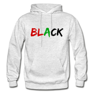 Black Men's Premium Hoodie - light heather gray