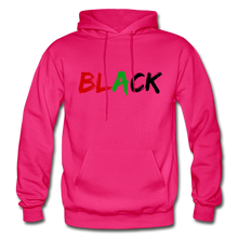 Load image into Gallery viewer, Black Men's Premium Hoodie - fuchsia
