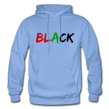 Load image into Gallery viewer, Black Men's Premium Hoodie - carolina blue