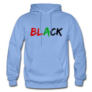 Black Men's Premium Hoodie - carolina blue