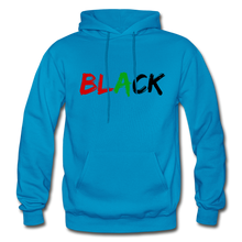Load image into Gallery viewer, Black Men's Premium Hoodie - turquoise