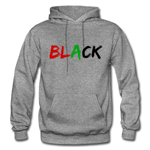 Black Men's Premium Hoodie - graphite heather
