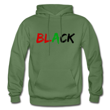 Load image into Gallery viewer, Black Men's Premium Hoodie - military green