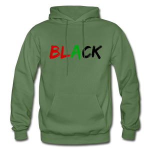 Black Men's Premium Hoodie - military green