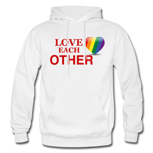 Load image into Gallery viewer, Love Each Other Adult Hoodie - white