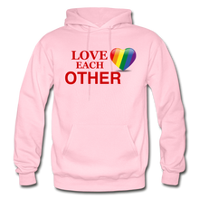 Load image into Gallery viewer, Love Each Other Adult Hoodie - light pink