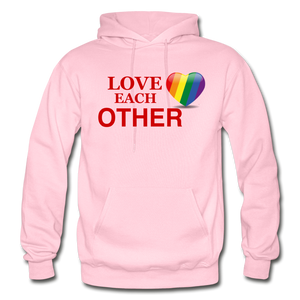 Love Each Other Adult Hoodie - light pink