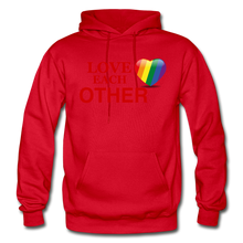 Load image into Gallery viewer, Love Each Other Adult Hoodie - red