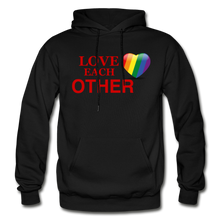 Load image into Gallery viewer, Love Each Other Adult Hoodie - black