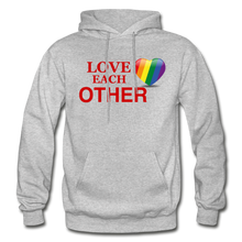 Load image into Gallery viewer, Love Each Other Adult Hoodie - heather gray