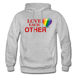 Love Each Other Adult Hoodie - heather gray