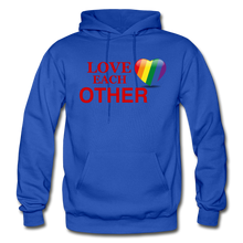 Load image into Gallery viewer, Love Each Other Adult Hoodie - royal blue