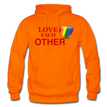 Load image into Gallery viewer, Love Each Other Adult Hoodie - orange