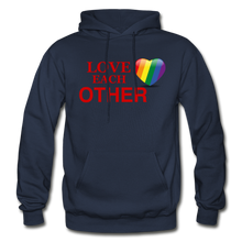 Load image into Gallery viewer, Love Each Other Adult Hoodie - navy