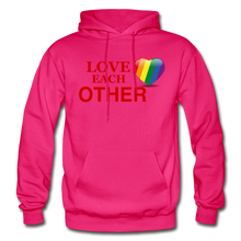 Load image into Gallery viewer, Love Each Other Adult Hoodie - fuchsia