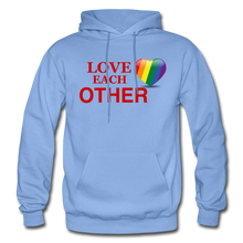 Load image into Gallery viewer, Love Each Other Adult Hoodie - carolina blue