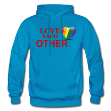 Load image into Gallery viewer, Love Each Other Adult Hoodie - turquoise