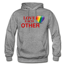 Load image into Gallery viewer, Love Each Other Adult Hoodie - graphite heather