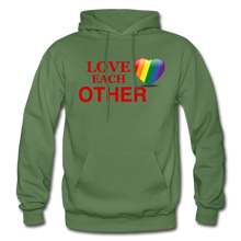 Load image into Gallery viewer, Love Each Other Adult Hoodie - military green
