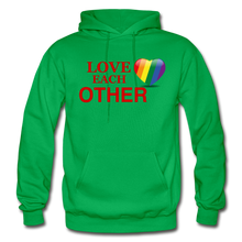 Load image into Gallery viewer, Love Each Other Adult Hoodie - kelly green