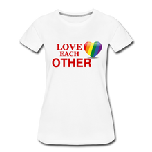 Load image into Gallery viewer, Love Each Other Women's Premium T-Shirt - white