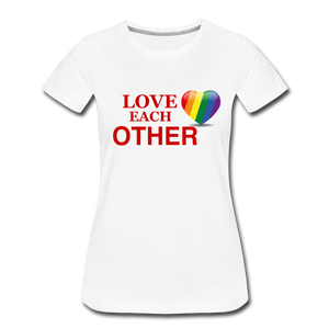 Love Each Other Women's Premium T-Shirt - white