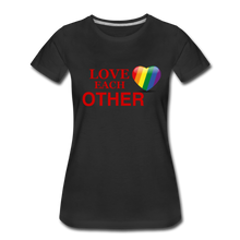 Load image into Gallery viewer, Love Each Other Women's Premium T-Shirt - black