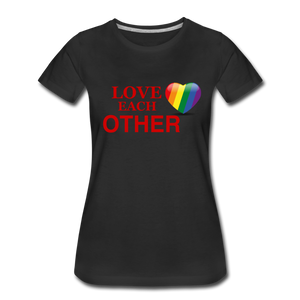 Love Each Other Women's Premium T-Shirt - black