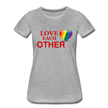 Load image into Gallery viewer, Love Each Other Women's Premium T-Shirt - heather gray