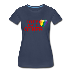 Love Each Other Women's Premium T-Shirt - navy