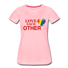 Load image into Gallery viewer, Love Each Other Women's Premium T-Shirt - pink