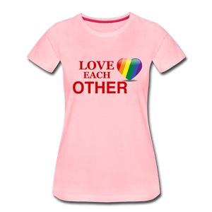 Love Each Other Women's Premium T-Shirt - pink