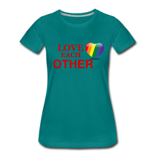 Load image into Gallery viewer, Love Each Other Women's Premium T-Shirt - teal