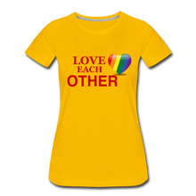Load image into Gallery viewer, Love Each Other Women's Premium T-Shirt - sun yellow
