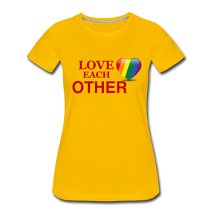 Love Each Other Women's Premium T-Shirt - sun yellow