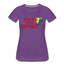 Load image into Gallery viewer, Love Each Other Women's Premium T-Shirt - purple