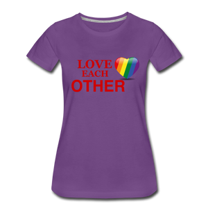 Love Each Other Women's Premium T-Shirt - purple