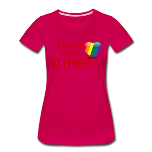 Love Each Other Women's Premium T-Shirt - dark pink