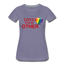 Load image into Gallery viewer, Love Each Other Women's Premium T-Shirt - washed violet