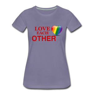 Love Each Other Women's Premium T-Shirt - washed violet