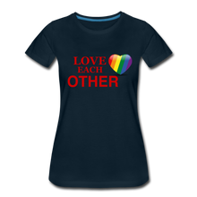 Load image into Gallery viewer, Love Each Other Women's Premium T-Shirt - deep navy
