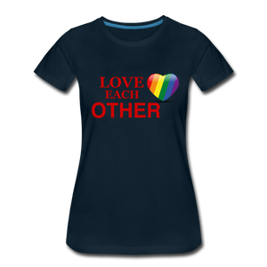 Love Each Other Women's Premium T-Shirt - deep navy