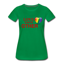 Load image into Gallery viewer, Love Each Other Women's Premium T-Shirt - kelly green