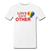 Load image into Gallery viewer, Love Each Other Men's Premium T-Shirt - white