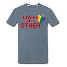 Load image into Gallery viewer, Love Each Other Men's Premium T-Shirt - steel blue