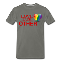 Load image into Gallery viewer, Love Each Other Men's Premium T-Shirt - asphalt gray