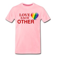 Load image into Gallery viewer, Love Each Other Men's Premium T-Shirt - pink