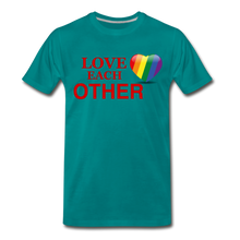 Load image into Gallery viewer, Love Each Other Men's Premium T-Shirt - teal